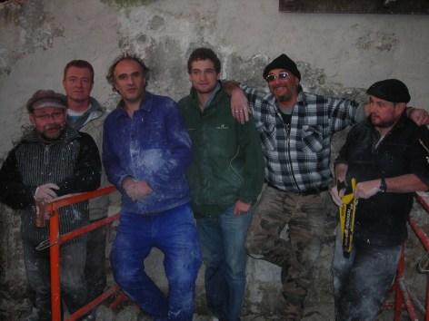 Aurélien Rol-Tanguy au centre en vert lors d'un chantier