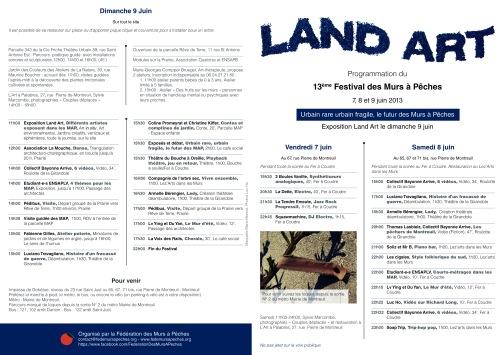 Le programme recto festival MAP 2013