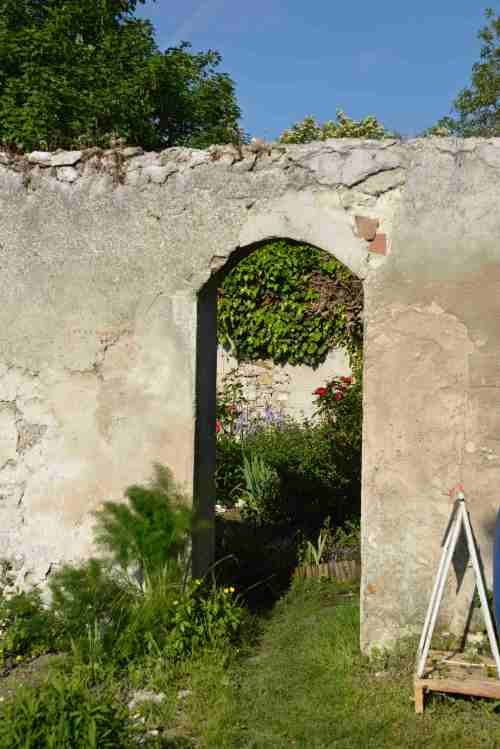 passage entre murs